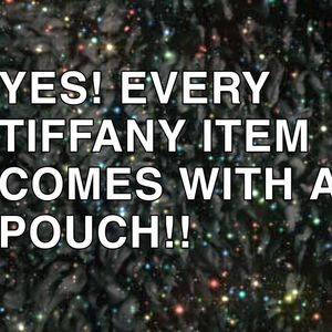 A POUCH WITH ALL TIFFANY JEWLERY PIECES!!